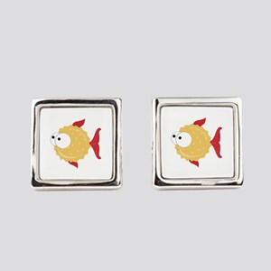 Puffer Fish Square Cufflinks