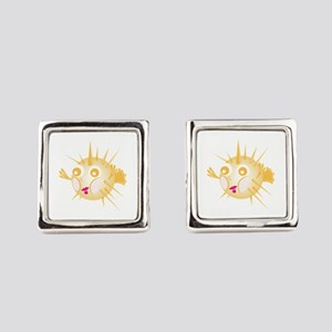 Blowfish Square Cufflinks