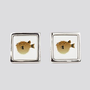 Blow Fish Square Cufflinks