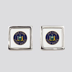 Police for the state of New York Square Cufflinks