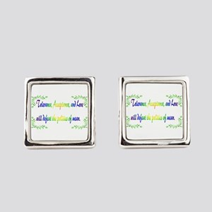 Power Of Tolerance Square Cufflinks