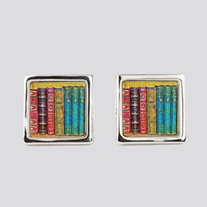 Library Square Cufflinks