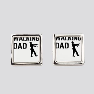 Walking Dad Square Cufflinks