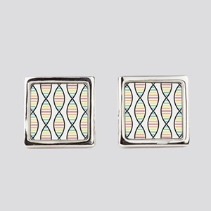 Strands of DNA Square Cufflinks