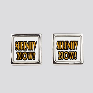 SERENITY NOW! Square Cufflinks