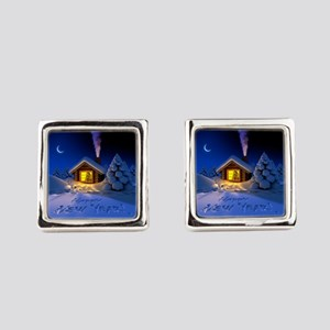 Happy New Year Square Cufflinks