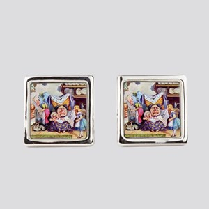 Alice, the Duchess and the Pig Ba Square Cufflinks
