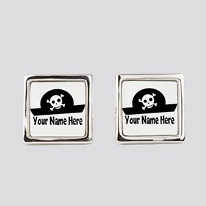 Pirate fun Square Cufflinks