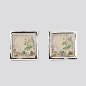 Easter Collage Square Cufflinks