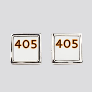 405 orange Square Cufflinks