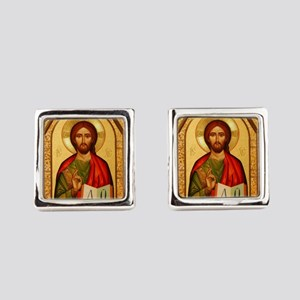 Christ The Teacher Square Cufflinks