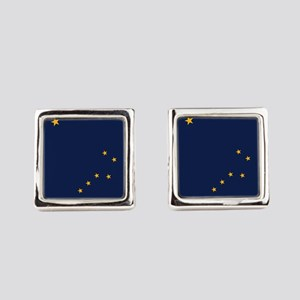 Alaska State Flag Square Cufflinks
