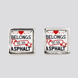 Trucker Wife My Heart Belongs to Square Cufflinks