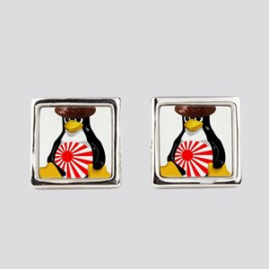 Tux in Japan Square Cufflinks