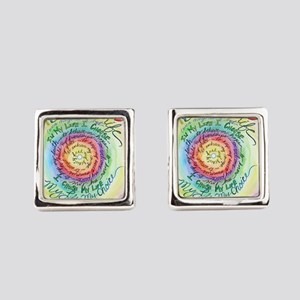 Beauty in Life Cancer Support Poem Square Cufflink