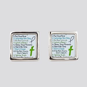 Gods top ten Square Cufflinks