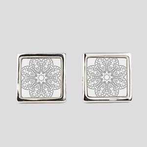 Beautiful and Meditative Zen Desi Square Cufflinks