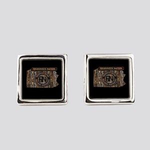 PENNSYLVANIA RIG UP CAMO Square Cufflinks