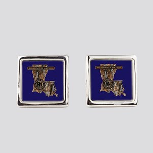 LOUISIANA RIG UP CAMO Square Cufflinks