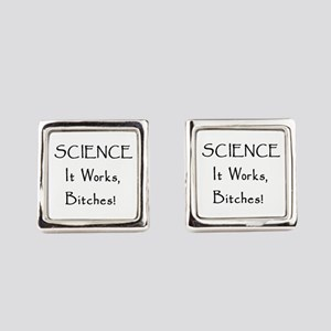 Science Works Square Cufflinks