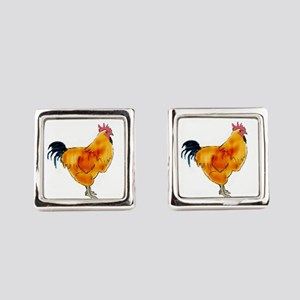 Rhode Island Red Rooster Square Cufflinks