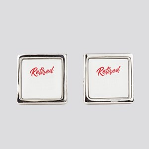 Retired 2019 Young Heart Retireme Square Cufflinks