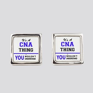 CNA thing, you wouldn't understan Square Cufflinks