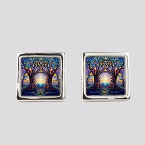 TREE SPIRIT Square Cufflinks