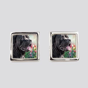 Cane Corso Painting Square Cufflinks