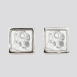 protective suit 678 Square Cufflinks