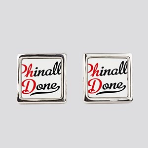 phinally done Square Cufflinks