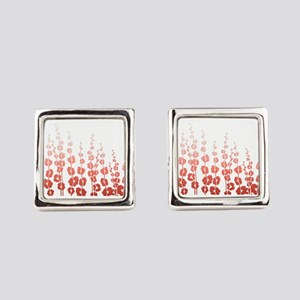 Chic Cherry Blossom Square Cufflinks