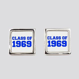 CLASS OF 1969-Fre blue 300 Square Cufflinks