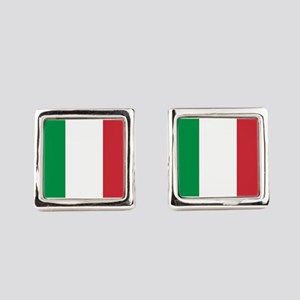 Italian Flag Square Cufflinks