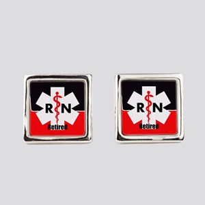 Retired Nurse Square Cufflinks