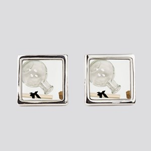 MessageFromBottle092609 Square Cufflinks