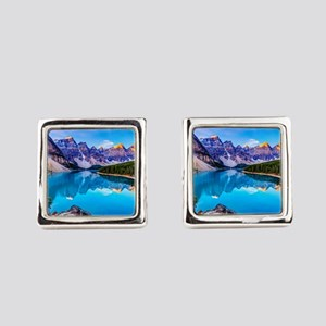 Beautiful Mountain Landscape Square Cufflinks