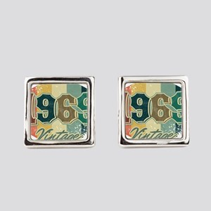 50th Birthday Celebration Gift 19 Square Cufflinks