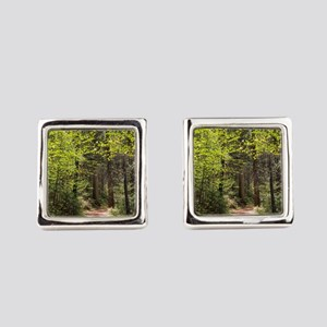 Forest Trail Square Cufflinks
