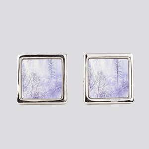 Waiting For Snow Square Cufflinks