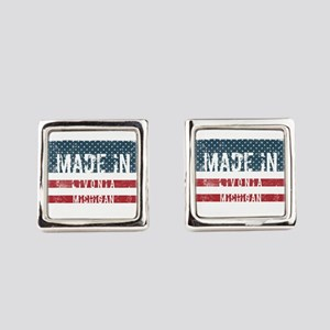 Made in Livonia, Michigan Square Cufflinks