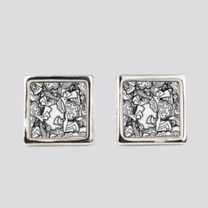 Doodle Depth Designs Series Square Cufflinks