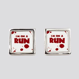 I'm on a run Square Cufflinks