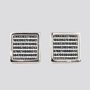 Pi number to many decimal places Square Cufflinks