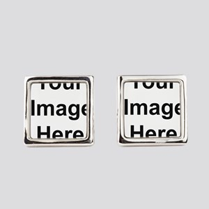 Mens Apparel Image on Back Square Cufflinks