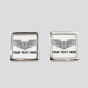 PERSONALIZED NAVIGATOR WINGS Square Cufflinks