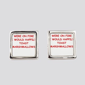 i hate you Square Cufflinks