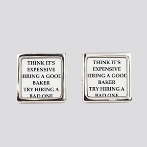 Quality joke Square Cufflinks