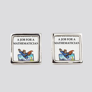 mathematics Square Cufflinks