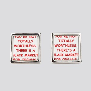 worthless Square Cufflinks